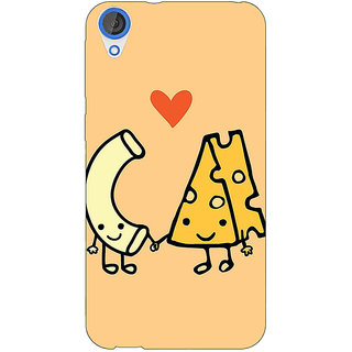 Jugaaduu Cheese Donut Love Back Cover Case For HTC Desire 826 - J591133