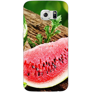 Jugaaduu Watermelon Back Cover Case For Samsung S6 Edge - J600690