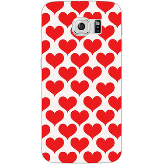 Jugaaduu Hearts Back Cover Case For Samsung S6 Edge - J600703