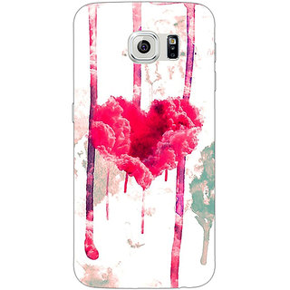 Jugaaduu Love Heart  Back Cover Case For Samsung S6 Edge - J600707