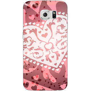 Jugaaduu Heart Lace Pattern Back Cover Case For Samsung S6 Edge - J600722