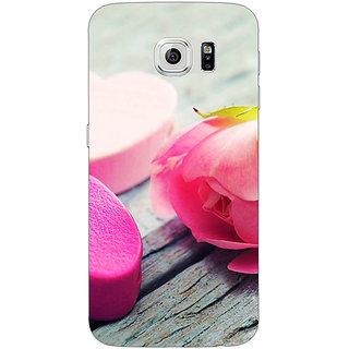 Jugaaduu Hearts Back Cover Case For Samsung S6 Edge - J600729