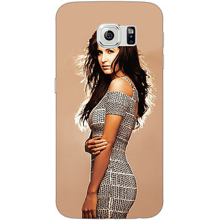 Jugaaduu Bollywood Superstar Katrina Kaif Back Cover Case For Samsung S6 Edge - J600993