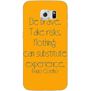 Jugaaduu Quote Back Cover Case For Samsung S6 Edge - J601354
