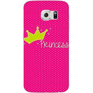Jugaaduu Princess Back Cover Case For Samsung S6 Edge - J601400
