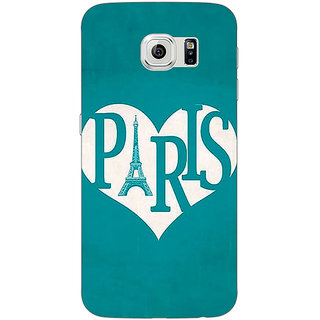 Jugaaduu Paris love Back Cover Case For Samsung S6 Edge - J601404