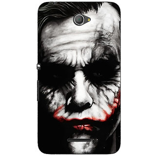 Jugaaduu Villain Joker Back Cover Case For Sony Xperia E4 - J620024