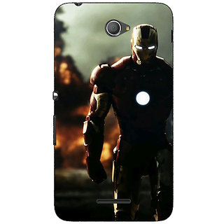Jugaaduu Superheroes Ironman Back Cover Case For Sony Xperia E4 - J620033