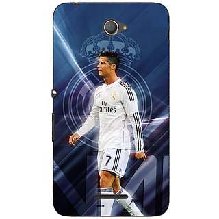Jugaaduu Cristiano Ronaldo Real Madrid Back Cover Case For Sony Xperia E4 - J620317
