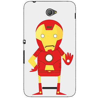 Jugaaduu Superheroes Iron Man Back Cover Case For Sony Xperia E4 - J620329