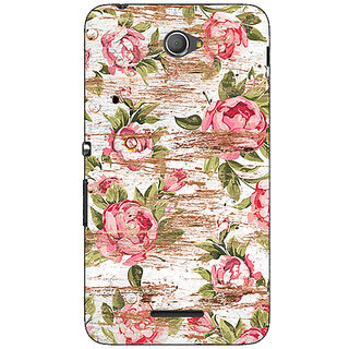 Jugaaduu Floral Pattern  Back Cover Case For Sony Xperia E4 - J620658