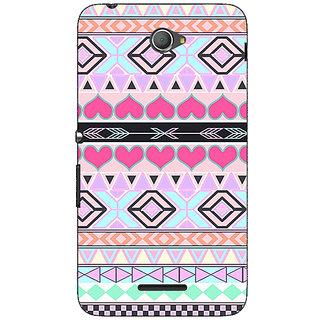 Jugaaduu Hearts Back Cover Case For Sony Xperia E4 - J620706