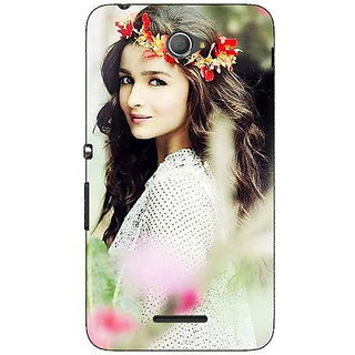 Jugaaduu Bollywood Superstar Alia Bhatt Back Cover Case For Sony Xperia E4 - J621028