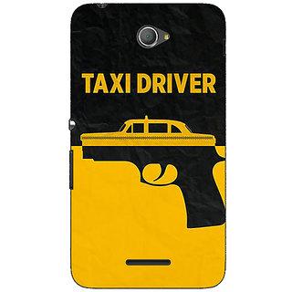 Jugaaduu Hollywood Taxi Driver Back Cover Case For Sony Xperia E4 - J621095