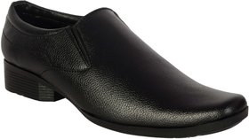 George Adam MenS Black Formal Slip On  Shoes ( 1001 blak formal)