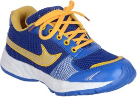 George Adam Adventure  MenS Blue With Yellow Lace Sport Shoes ( sk041 navy blue sports shoe)