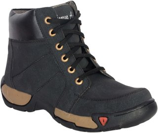 George Adam Mens Black Lace-up Boots
