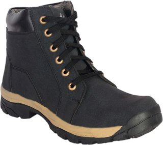 George Adam Mens Black Lace-Up Boot