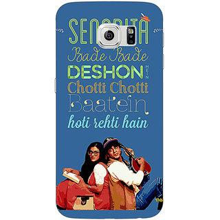 Jugaaduu Bollywood Superstar DDLJ Back Cover Case For Samsung S6 Edge - J601097