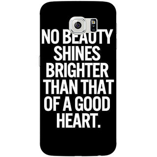Jugaaduu Quote Back Cover Case For Samsung S6 Edge - J601474