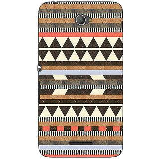 Jugaaduu Aztec Girly Tribal Back Cover Case For Sony Xperia E4 - J620062