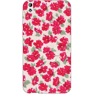 Jugaaduu Floral Pattern  Back Cover Case For HTC Desire 816G - J1070660