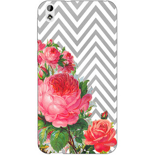 Jugaaduu Floral Pattern  Back Cover Case For HTC Desire 816 Dual Sim - J1060679