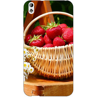 Jugaaduu Strawberry Love Back Cover Case For HTC Desire 816G - J1070697