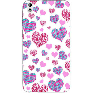 Jugaaduu Hearts Back Cover Case For HTC Desire 816G - J1070702