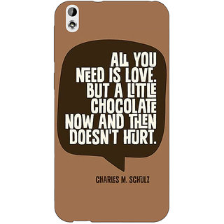 Jugaaduu Chocolate Love Quote Back Cover Case For HTC Desire 816G - J1071306