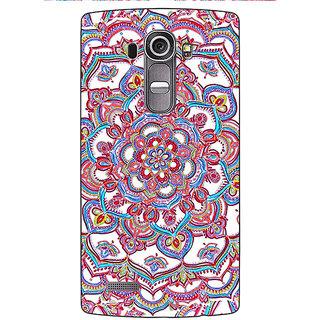 Jugaaduu Flower Circles Pattern Back Cover Case For LG G4 - J1100230