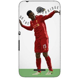 Jugaaduu Liverpool Sturridge Back Cover Case For Sony Xperia E4 - J620552