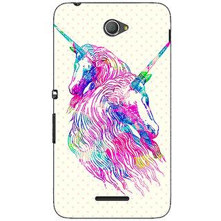 Jugaaduu Unicorn  Back Cover Case For Sony Xperia E4 - J620610