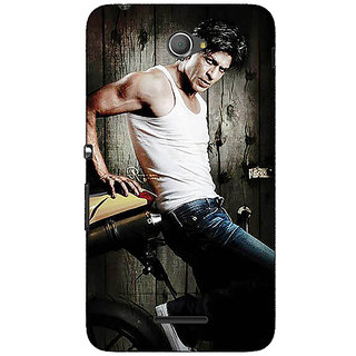 Jugaaduu Bollywood Superstar Shahrukh Khan Back Cover Case For Sony Xperia E4 - J620947