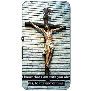 Jugaaduu Jesus Christ Back Cover Case For Sony Xperia E4 - J621268