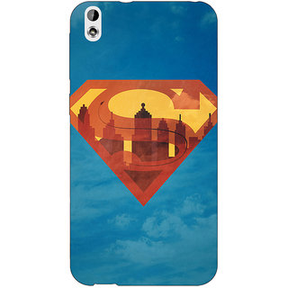 Jugaaduu Superheroes Superman Back Cover Case For HTC Desire 816G - J1070388
