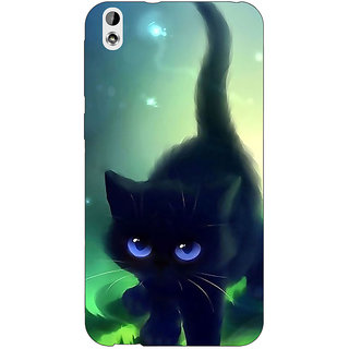 Jugaaduu Cute Black Kitten Back Cover Case For HTC Desire 816 - J1051138