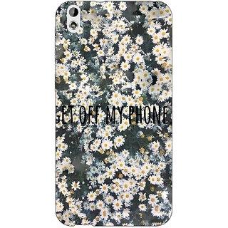Jugaaduu Floral Pattern Back Cover Case For HTC Desire 816G - J1071408