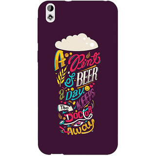 Jugaaduu Beer Quotes Back Cover Case For HTC Desire 816G - J1071438