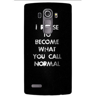 Jugaaduu Quote Back Cover Case For LG G4 - J1101336