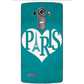 Jugaaduu Paris love Back Cover Case For LG G4 - J1101404