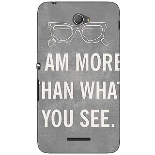 Jugaaduu Quote Back Cover Case For Sony Xperia E4 - J621316