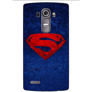 Jugaaduu Superheroes Superman Back Cover Case For LG G4 - J1100022