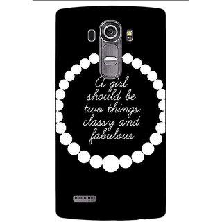 Jugaaduu Chanel Back Cover Case For LG G4 - J1101432