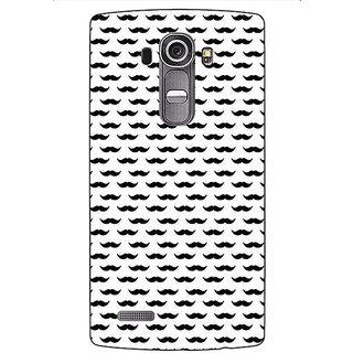 Jugaaduu Moustache Back Cover Case For LG G4 - J1101448