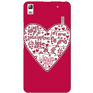 Jugaaduu Hearts Back Cover Case For Lenovo K3 Note - J1120741