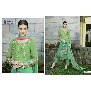 Green Glace Salwar Suit With Dupatta (Unstitched)