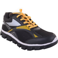 Dev Sport Men's Black And Yellow Sport Shoes
