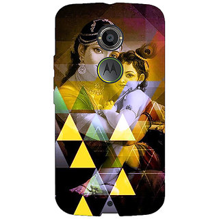 Jugaaduu Lord Krishna Back Cover Case For Moto X (2nd Gen) - J231281