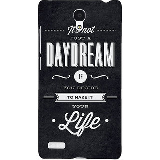 Jugaaduu Quote Back Cover Case For Redmi Note 4G - J241471